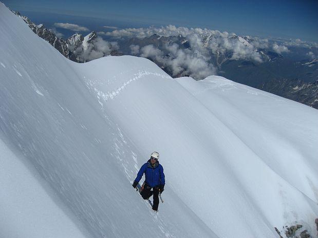 Blaž pod vrhom Shkhare (5203 m), Bezengi, Kavkaz