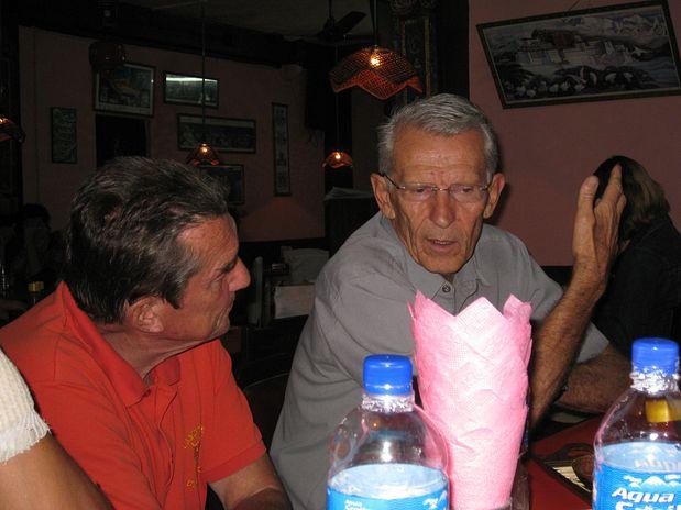 Damijan Meško in Tone Škarja pri pogovoru