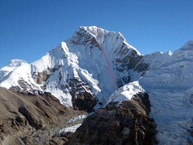 Nova smer v jugozahodni steni Patibare - Piramid peak